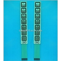 7 keys metal dome membrane keypads with tactile feedback
