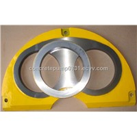 All Models Of Sermac Concrete Pump Part Carbide Spectacle Wear Plate and Wear Cutting Ring