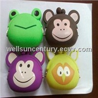 Animal face silicone coin purses