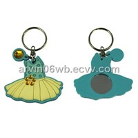 Beautiful Dress Design Key Chain with Mirror