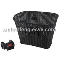 Bicycle Basket, HBK-110, Plastic Rattan Basket