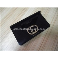 Black acrylic tablet display cases with logo stamped golden -AD0110