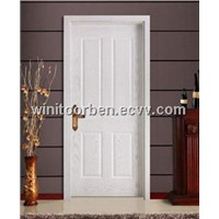 Cheap Main Entry Solid Wooden Door With Popular Design(WNT-SD044)
