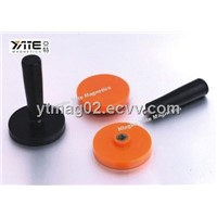 Cup magnet with rubber coating