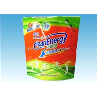 Custom Printed Stand Up Pouch, Washing Powder Bag Packaging Pouches With Three Handles