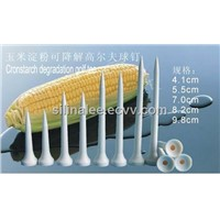 Dispostable corn starch-based biodegradable golf tee 55mm