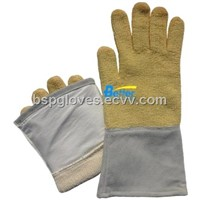 Aramid Fiber Fabric Sewed 350 Centigrade Degree Heat Resistance Work Gloves BGKH002