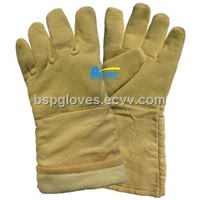 Aramid Fiber Fabric Sewed 500 Centigrade Degree Heat Resistance Work Gloves BGKH004
