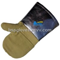 Aramid Fiber Fabric Sewed 700 Centigrade Degree Heat Resistance Work Gloves BGKH006