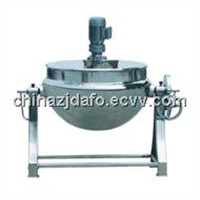 Electrical jacket kettle cooker with agitator