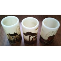 Flameless Countryside Decal LED Candle