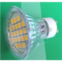 GU10 LED Light 3.5W CE,ROHS TUV approved (21SMD 5050 with glass cover)