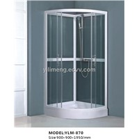Glass Shower Enclosure with Handle Shower