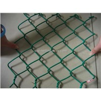 Green PVC Coated Chain Link Fence (Manufacturer)