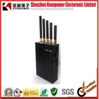 Handheld 5 Bands 3G 4G Cell Phone Jammer - For 4G LTE and WIMAX