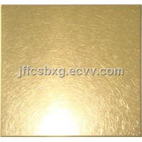 High Quality Gold Vibration Surface Stainless Steel Coloured Sheets
