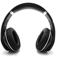 High Protein Leather Ear Set Design Stereo Bluetooth Headphone