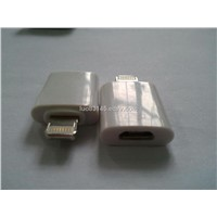 Hot Selling  iPhone 5 8P Male to Micro USB 5P Female Adapter
