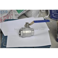 Integrated Two-Section Steel Stainless Ball Valve
