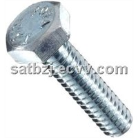 MS  nut and bolt with full thread hex bolt