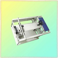 Manual curve bottle screen printing machine for 1 color