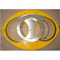 Mitsubishi Carbide and Welding Concrete Pump Part Spectacle Wear Plate and Cutting Ring