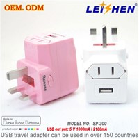 Multi Travel adapter with usb charger