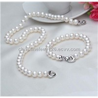 Natural Freshwater Pearl Necklace and Bracelet Sets