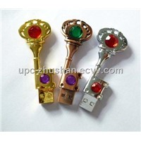 New Arrival Diamond Key USB Flash Memory Sticks(UPC-X322)