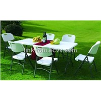 Plastic folding table(blow mould, HDPE, outdoor,banquet,camping)