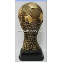 Resin soccer trophy award