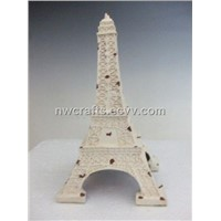 Resin white Eiffel Tower desk decoration
