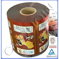 Roll Film for Food Packaging, Made of BOPP, VMPET and PE