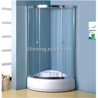 Sector Shape Shower Tray Glass Shower Enclosure