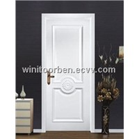 Single Euro wooden door designs with CE,ISO9001(WNT-SD045)