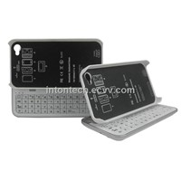 Sliding and Standing Bluetooth Keyboard Case for iPhone 4/4S