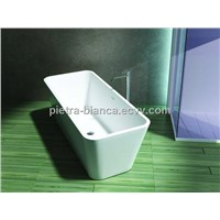 Solid Surface White Acrylic Bathtubs PB1007