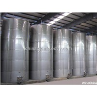 Stainless steel outdoor beverage processing storage vessels