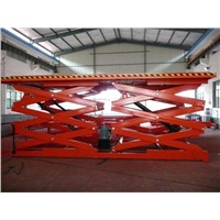 Stationary Electric Scissor Lift Platform Fixed Platform