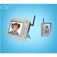 T-709CW distance 150m 7inch wireless video doorphone can save pictures by SD card
