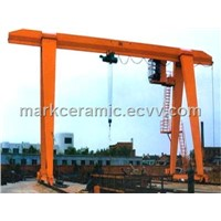 Truss type single girder gantry crane 15 ton with cantilever