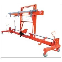 Twin Warp Beam With Harness Mounting Device-Hydraulic