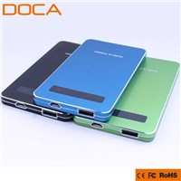 Ultra-Thin touch screen 4000mAh Universal Power Bank for Tablet PC and Smart Phones