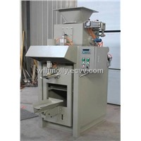 Valve bag packing machine for dry powder materials