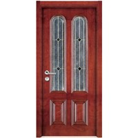 Wooden Entry Door with Glass