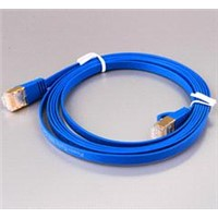 cat6/cat6a flat lan cable,high quality flat patch cord