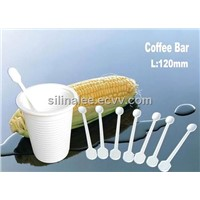 corn starch 100% biodegradable dispostable coffee bar 120mm