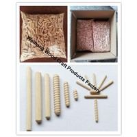 direct supply coarse grooved wooden dowel pin