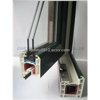 durable plastic extruded PVC windows profiles