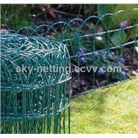 Garden Border Fence Plastic Coated Mesh 82*150mm Mesh Size